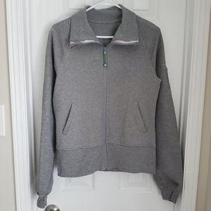 Lululemon GUC Grey Cotton Zip Up Sweater